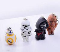 2016 Star Wars 7 Force Awakens Jouets Star Wars Porte-clés Black Knight Robot soldats blanc BB-8 Tumbler Figurines d'action Cadeaux pour enfants