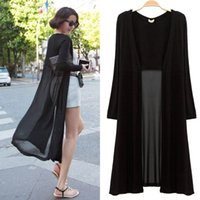 Wholesale Ankle Length Sweater Coat Women Knitted Long Sleeve Oversized Sweaters Dress Korean Style Fashion Black Maxi Cardigan