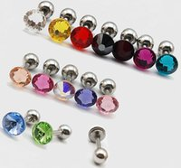 Wholesale 10Pcs g Swarovski Elements Crystal Eyebrow Top Earring Body Piercing Lip Bars