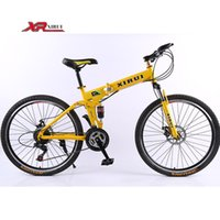 Wholesale Men Mountain bicycle speed bicicletas inch folding bike standard double disc bicycle adult bikes red unisex biycles