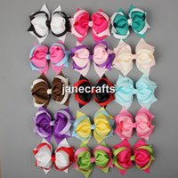 Wholesale 15pcs quot Mixed Color Spike Hair Bows Grosgrain Ribbon Hair Bow Baby Girl Boutique Hair Accessories for Headband Without Clips