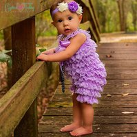lace petti rompers - Cute Baby Posh Petti Romper Solid Color Lace Romper Girl Multicolor Rompers Size summer kids lace baptism rompers