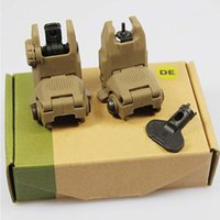 Wholesale GEN Back Up Front And Rear Folding Sights With Key For Hunting Airsoft DE BK