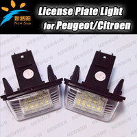 auto parts number - Auto tail light Parts License Plate led Light for peugeot citroen c3 C4 c5 C6 number license plate light