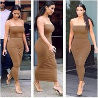 plus size womens clothing - Womens Long Sexy Party Dresses Strapless Night Club Party Dresses Summer Trendy Club Wear Cheap Price Sexy Clothing for Ladies