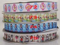printed grosgrain ribbon - ruban satin Mickey princess Gorjuss tape Cartoon Printed Grosgrain Ribbon Bow DIY handmade fabric garment hair accessories DMSS