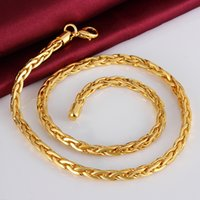 twisted pearl necklace - Men s Cool Twist Chains K Gold Rose golden mm necklaces solid n822 gift pouches free New Jewelry