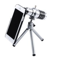 Wholesale DHL Mobile Phone Lens x Zoom Optical Telescope Camera telephoto Lens with phone case For iPhone quot Plus quot