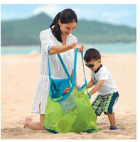 beach towels bags - Lowest price Extra large sand away beach mesh bag Children Beach Toys Clothes Towel Bags baby toy collection bag
