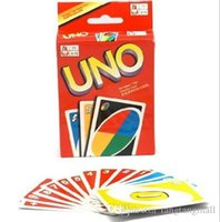 Wholesale UNO playing cards cooper paper high quality funny board game uno playing cards english rusian rules optional A5