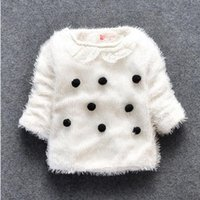 baby girl woollen - Children children s clothing qiu dong outfit girls female baby wool sweater MAO qiu lapel woollen sweater BH1099