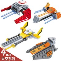 Wholesale ABS Qiaoletong Outer Space Series Enlightenment Building Blocks Sets Model Bricks Toys No Original Box