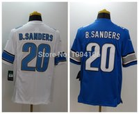 barry sanders authentic jersey - Factory Outlet Barry Sanders White Blue Elite Jersey New Authentic Stitched B sanders Elite Football Jerseys Top Quality Free Ship