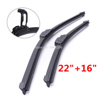 aero blade wiper - 22 Aero Front Retro Flat Wiper Blades U Hook For Ford Fiesta MK6 Hatch Pair small order no tracking