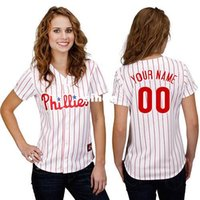 baseball brand names - 30 Teams Customized Philadelphia Phillies womens jersey custom NEW brand logo ANY NAME Stitched FASHION FEMAL bests by dr china