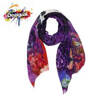 ladies fashion shawls - New spain brand scarf fashion ladies Scarves wraps green desigual scarf large shawl women infinity silk scarf