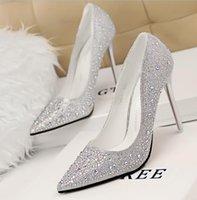 studded shoes - crystal studded wedding shoes glitter rhinestone sexy high heels bridal pumps size to