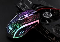 adjustable laptop - RAJFOO Rainbow DPI Optical Adjustable D Button Wired Gaming Game Mice Mouse for Laptop PC Colorful LED Light Luminous Ergonomic Mice
