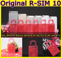 Wholesale Newest Unlock Card R SIM RSIM R SIM directly used for iphone plus s c iOS6 X X WCDMA GSM CDMA