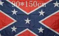Wholesale Confederate Rebel Civil War Flag Confederate Flag Confederate Battle Flags Two Sides Printed Flag National Polyester Flags for