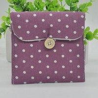 Wholesale Sweet Polka Dots Pattern Sanitary Towel Storage Bag Brief Cotton Sanitary Napkin Bags For Women Ladies Girls Y57 JJ0114 M5