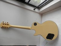 Wholesale China Musical Instrument factory custom Top Quality cream yellow color lp Custom Electric Guitar Real photos