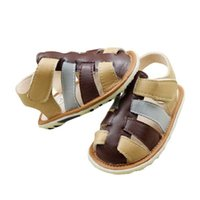 Wholesale Top selling summer baby sandals boys sandals leather sandals with high quality