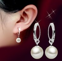 Wholesale fashion earrings for women Jewelry eardrop sterling silver Studs earring female glass shell pearl ear ring new