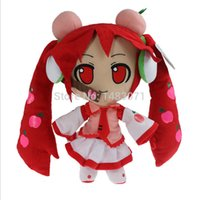 al por mayor venta al por mayor de la felpa japonés-Envía al por mayor-libre caliente de dibujos animados japonesa Hatsune Miku lindo peluche de juguete de felpa de 30 cm de alta calidad