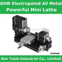 mini lathe - 60W rpm Electroplated All Metal Mini Lathe TZ20002MP Electroplating Powerful metal lathe metal mini lathe didactical lathe