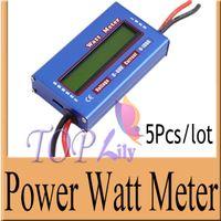 Wholesale 5Pcs RC Wattmeter Watt Meter Digital LCD V A DC Voltage Current Power Balancer Battery Analyze Checker Monitor Testing