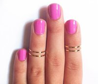 Wholesale bag Punk Gold Knuckle Midi Top Finger Rings For Women Diameter mm Joint Brief Thin Alloy Ring Party Jewelry