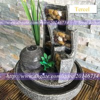 accessories water feature - 2015 hot sale resin craft Lucky rockery fountain decoration water features home accessories ornaments modern humidifier