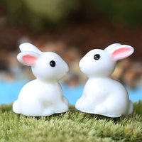 Wholesale White Mini Rabbit Garden Doll house Home Plant Decor