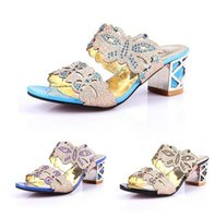 Wholesale 2015 New Fashion Shoes Woman Women Sandal Platform Sandals Pumps Summer Shoes Rhinestone Chunky Heel Peep Toe