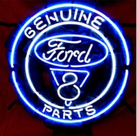 american motor parts - American Automobile Ford V8 Motor Genuine Parts Company Neon Sign Lighting Real Glass Tube Store Sign Repair Sign Advertisement Sign quot X16 quot