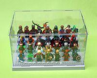 PVC acrylic display box - Acrylic Display Box Minifigures Storage Box with Size cm for Super Hero Star Wars Bricks Toys