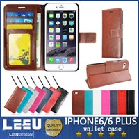 Leather apple iphne - For galaxy note iphone plus wallet case PU Leather Case iphne s plus s7 edge s6 s with Stand credit Card pocket cash slot Photo Frame
