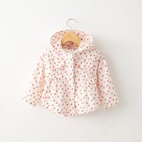 Wholesale baby clothes Autumn new children s clothing girls children Korean version small strawberry hooded sweater jacket