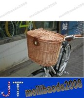 woven basket - Fashion Front Basket for Bike Bicycle WILLOW WICKER Hand Woven MYY13453A
