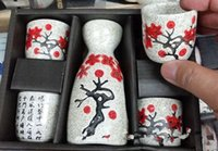 Wholesale Vintage Japanese sake wine glass ceramics wine cup piece Burning flagon set USD