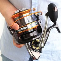 saltwater fishing reels - TOP1 Seires Full Metal Line Cup Spinning Fishing Reels Gear Saltwater Spinner Boat Fishing