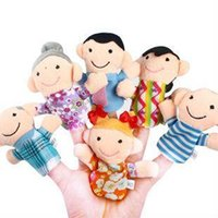 Cheap 6pcs pack Finger Plush Puppet Happy Family Story Telling Dolls Support Children Baby Educational Toys Wholesale 80523