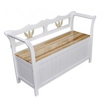 Wholesale US STOCK Days to UK DE FR IT European Style Bench white Cabinet Storage Home Chair for Bedroom