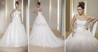 Wholesale 2012 New Style Elegant Strapless Sweetheart Handmade Flower Lace A Line Wedding Dresses