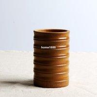 bamboo canister set - Tube bucket tea caddy tea set storage bamboo eco friendly handmade bottle pen holder canister sets caixa organizadora