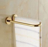 Wholesale Wall Mounted U Shape Brass Bathroom Towel Bar Golden Towel Ring Towel Rack