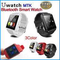 Wholesale MTK New Fashion Bluetooth Smart watch U8 U Watch Smart Watch Wrist Watches for iPhone S Samsung S4 S5 Note HTC Android Phone