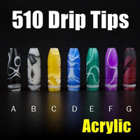 acrylic materials - 510 Drip Tips Bullet Shape Acrylic Material Colorful Available Mouthpieces For Subtank Nano Hot Selling FJ442