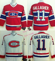 Wholesale Canadiens Brendan Gallagher Cheap Youth Ice Hockey Jerseys Kids Boys Stitched Jersey Size S M L XL